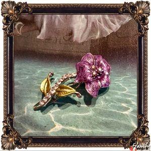 Accessories - Fashion Crystal Glitter Purple Hair Clip